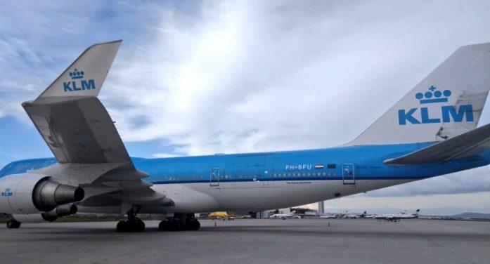 Aterrizó en Querétaro un Boeing 747-400