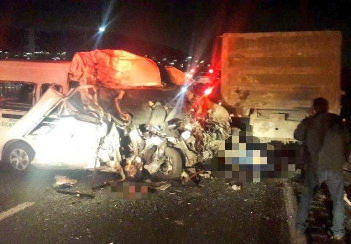 Fuerte accidente vehicular en la México-Pachuca deja 12 muertos