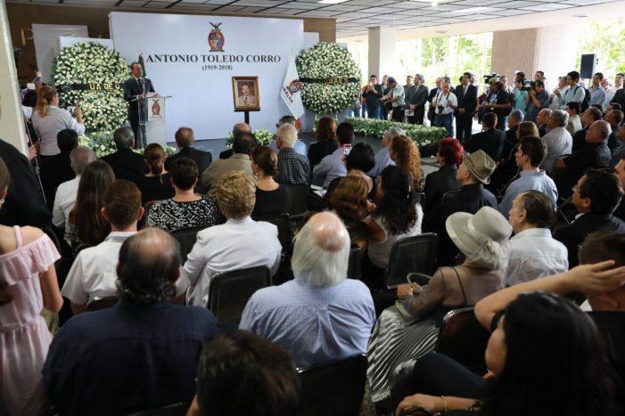 Sinaloa | Rinden homenaje a don Antonio Toledo Corro