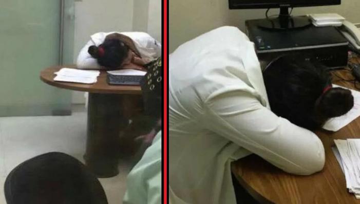 En las clínicas del IMSS mientras los médicos duermen…