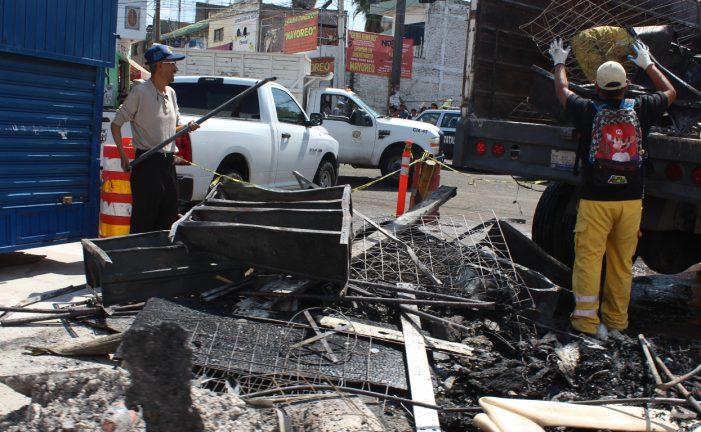 Municipio concluye labores de limpieza en Mercado del Tepetate