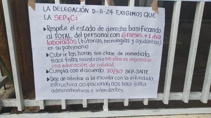 Sinaloa | Más de 20 secundarias se van a paro laboral
