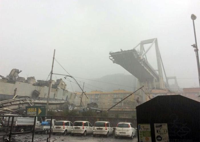 Se derrumba puente en Génova, hay 11 muertos