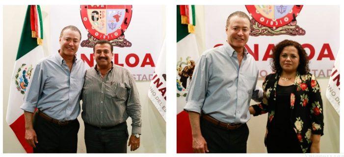Recibe Quirino a alcaldes electos de Guasave y Navolato