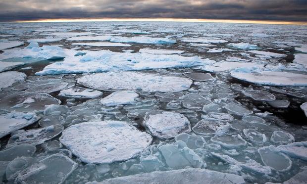 El hielo del Ártico se está rompiendo por el calentamiento del planeta
