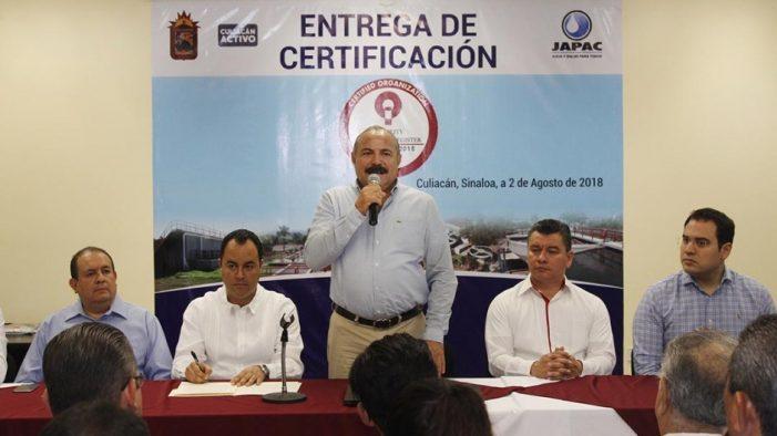 Sinaloa | JAPAC recibe distintivo internacional ISO-9001