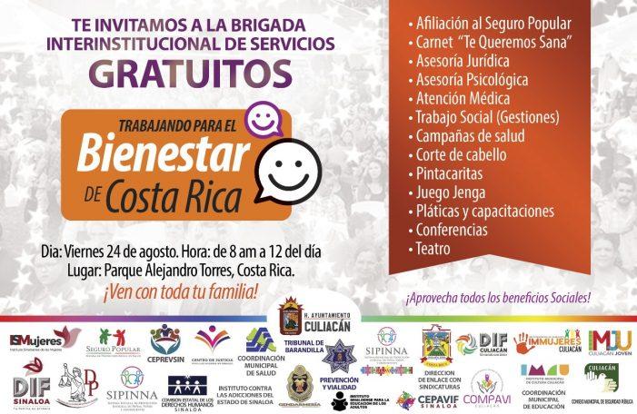 Jornada de servicios en Costa Rica, este viernes