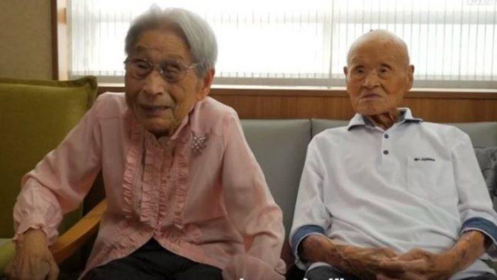 Pareja japonesa lleva 80 años casados ¡Amor del bueno!