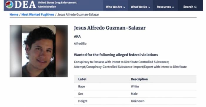 DEA incluye al hijo de El Chapo Guzmán en su lista de los 10 más buscados