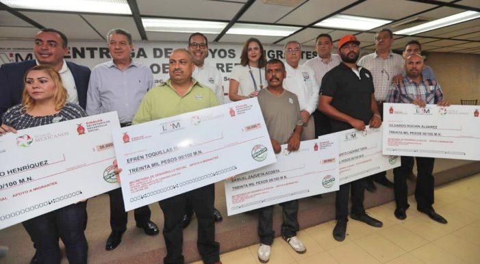 Entregan apoyo a migrantes sinaloenses repatriados
