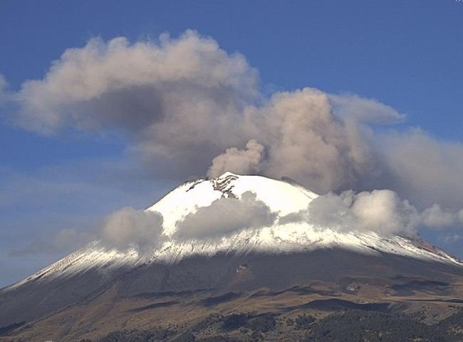 Posible caída de ceniza del Popocatépetl en Morelos y Edomex