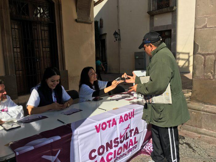 Comienza con poca gente la consulta sobre el NAIM en Querétaro