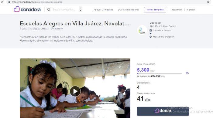 """Donación en línea para """"Escuelas Alegres en Villa Juárez"""""""