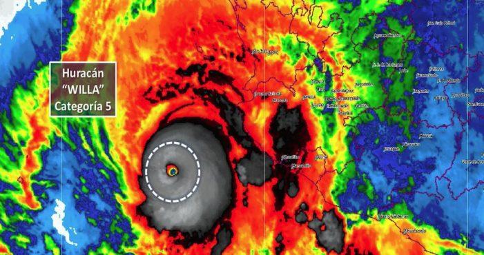 """Willa"" pasa a categoría 5; amenaza a Sinaloa y Nayarit"