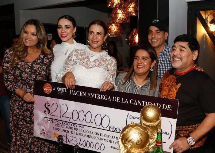 Sinaloa | Maradona y Club Dorados donan $237,000 a damnificados