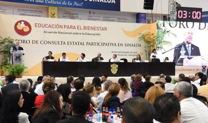 Realizan en la UAS Foro de consulta en materia educativa