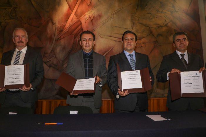 Firma Luis Nava convenios de colaboración con el Consejo Estatal de Seguridad