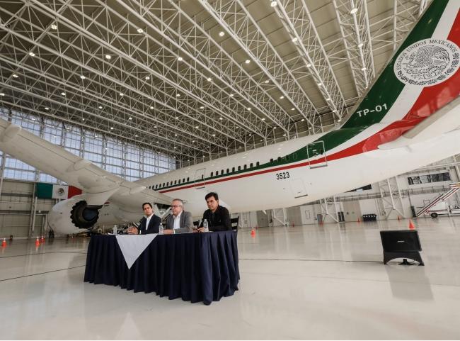 ¡A volar! Avión presidencial sale de México este lunes para iniciar su venta