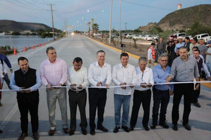 Entrega gobernador Quirino Ordaz nueva carretera Los Mochis-Topo