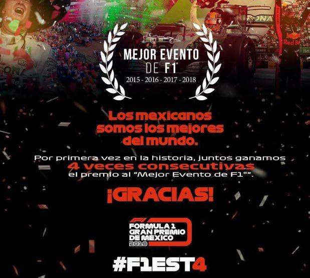 México gana como el mejor evento de F1