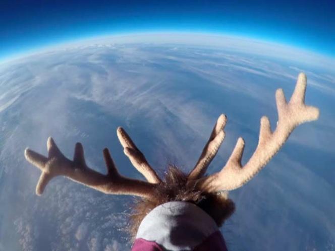 EL vuelo de Santa grabado en video