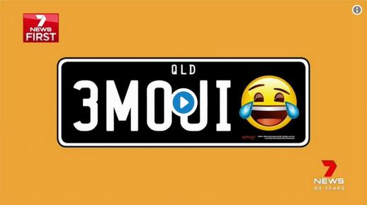 En Australia puedes tener la placa de tu auto con un emoticón
