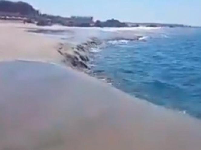 Se hunde playa en Oaxaca