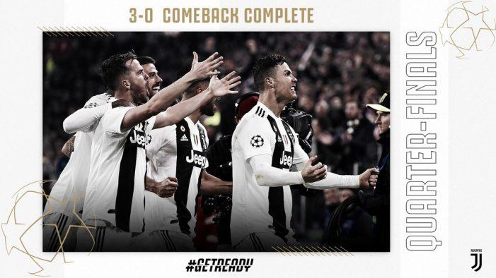 Cristiano Ronaldo pone a la Juventus en cuartos de final de la Champions