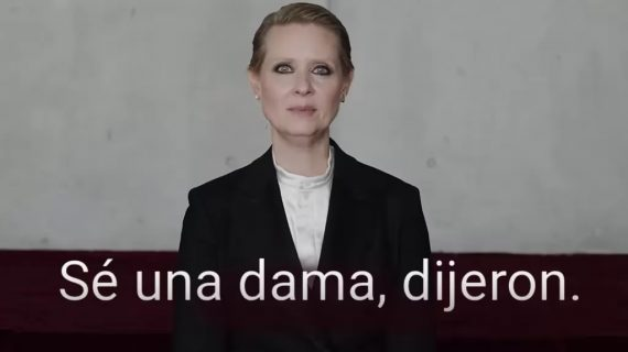 """El video """"Sé una dama"""" de Cynthia Nixon del que todos hablan"""