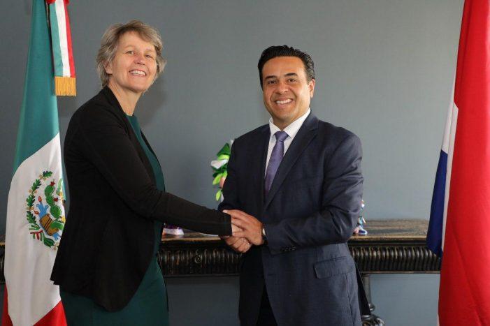 Luis Nava se reúne con la Embajadora de los Países Bajos en México