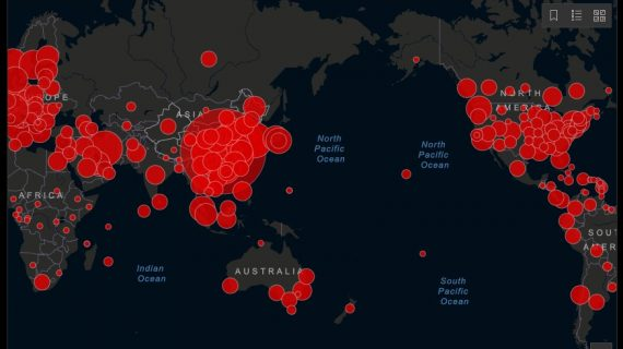 Mapa en tiempo real del coronavirus en el mundo