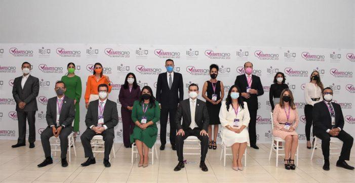 Debaten candidatas y candidatos a la gubernatura de Querétaro