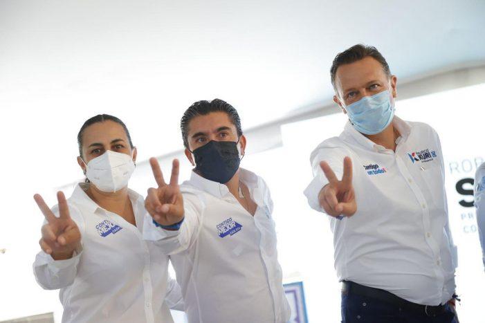 Roberto Sosa garantiza seguridad, economía y salud a Corregidora
