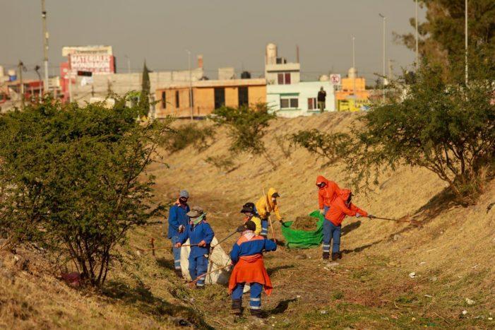 Se mantiene supervisión y limpieza en los drenes del municipio de Querétaro