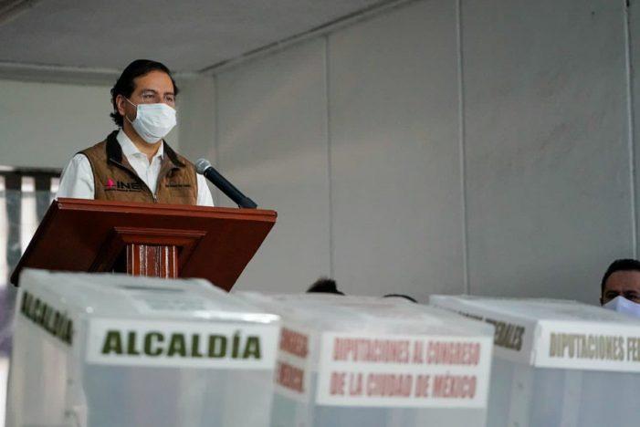INE difunde medidas sanitarias para la jornada electoral