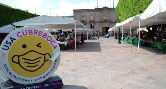 Inicia Feria Artesanal en el Jardín Guerrero de Querétaro