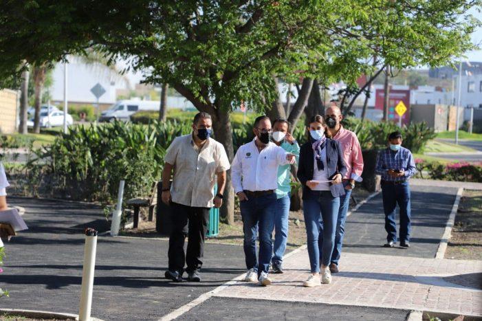 Alcalde de Querétaro supervisa trabajos de rehabilitación en Santa Rosa Jáuregui