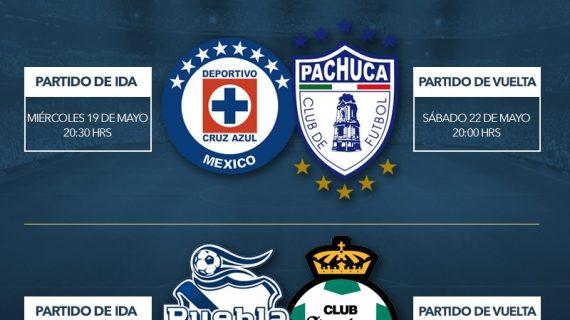 Quedan definidas las semifinales del futbol mexicano