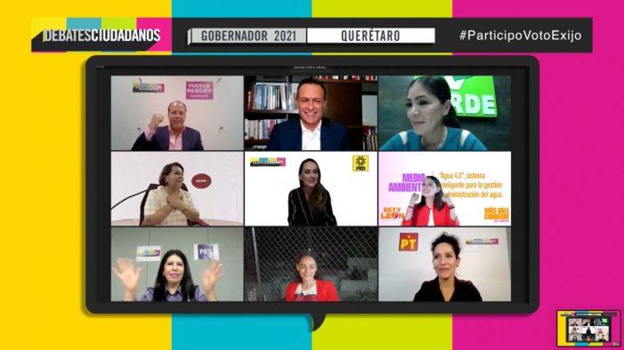 Candidatas y candidatos a la gubernatura de Querétaro debaten en foro organizado por la Coparmex