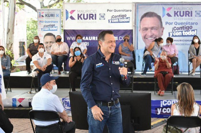 Mauricio Kuri se compromete a rescatar barrios y colonias de Querétaro