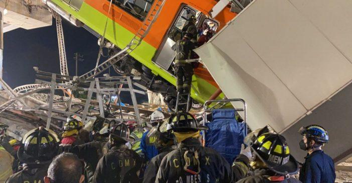 Van 23 personas muertas por desplome de puente del Metro de la CDMX