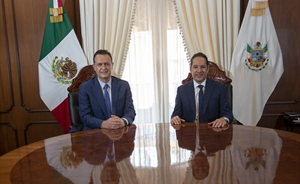 Francisco Domínguez recibe a Mauricio Kuri González, gobernador electo de Querétaro