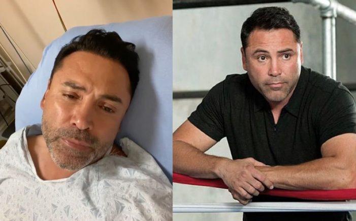 Óscar de la Hoya está hospitalizado por COVID-19